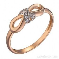 Золотое кольцо с фианитами Бант (арт. 1191640101)