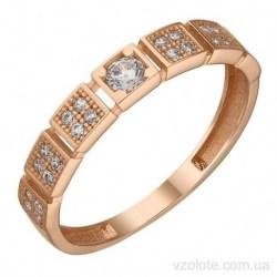 Золотое кольцо с фианитами Одти (арт. 1191730101)