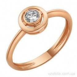 Золотое кольцо с фианитом Круффи (арт. 1191759101)