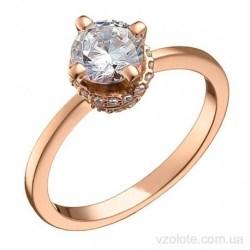 Золотое кольцо с фианитами Фродели (арт. 1191816101)