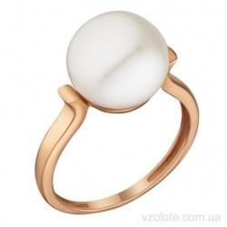Золотое кольцо с жемчугом Перла (арт. 1191818101)