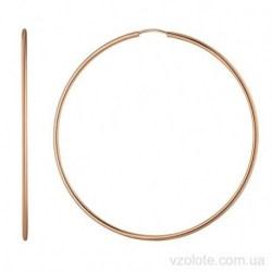 Золотые серьги кольца Эрми (арт. 2006216101)