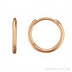 Золотые серьги-кольца Хилди (арт. 2007830101)