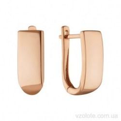 Золотые серьги без камней Гриди (арт. 2091733101)