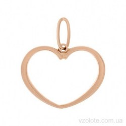 Золотой кулон без камней Сердечко (арт. 3002520101)