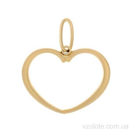 Золотой кулон из лимонного золота Сердечко (арт. 3002520103)
