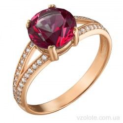 Золотое кольцо с рубином Трисси (арт. 1191622101)