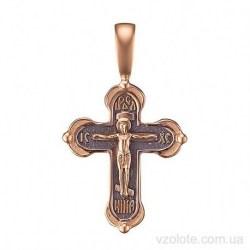 Золотой крестик с чернением (арт. 3007825101)