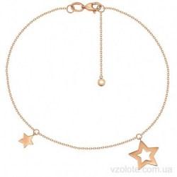 Золотой браслет с подвесками Звездочки (арт. 4077661101)
