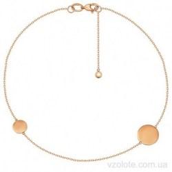 Золотой браслет с подвесками Монетки (арт. 4077665101)