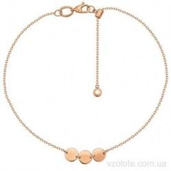 Золотой браслет с подвесками Эльми (арт. 4077668101)