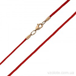 Красный шелковый шнурок с золотым замком (арт. 7105845101к)