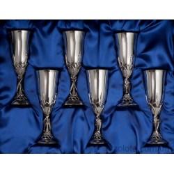 Набор серебряных бокалов Морской (арт. 8110025-Н6)