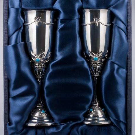 Набор серебряных бокалов Весна (арт. 8160001-Н2)