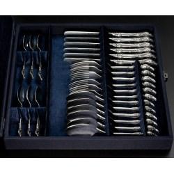 Набор серебряных столовых приборов Розочка (арт. 8100800-Н24)