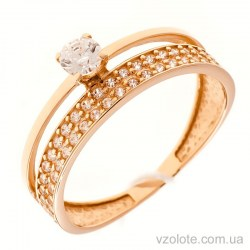 Золотое кольцо с фианитами Окина (арт. 380215)