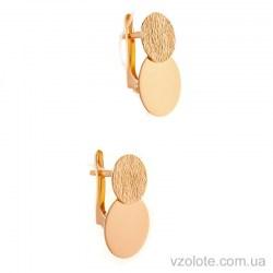 Золотые серьги без камней Мири (арт. 470094)