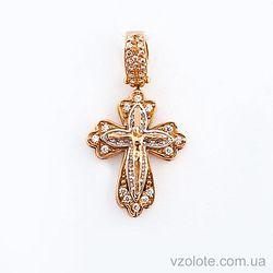 Золотой крестик с фианитами (арт. 270053)