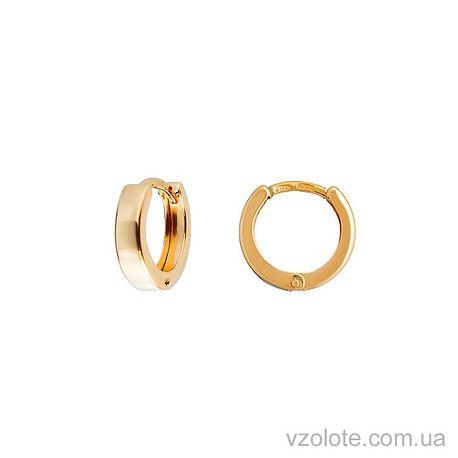 Золотые серьги (арт. 470328)
