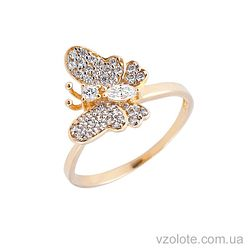 Золотое кольцо с фианитами (арт. 140525)