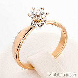 Золотое кольцо с фианитами (цирконием) (арт. 140332)