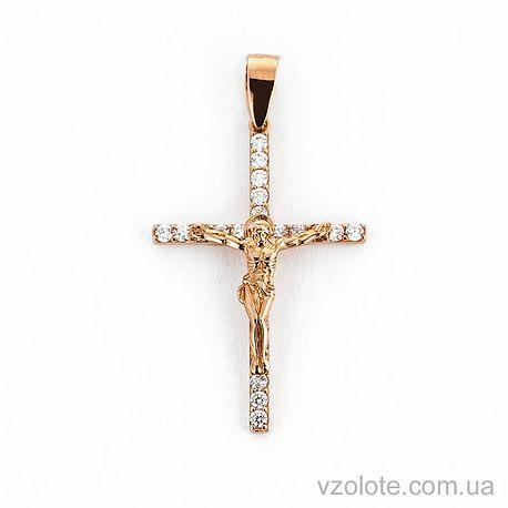 Золотой крестик с фианитами (арт. 501387)