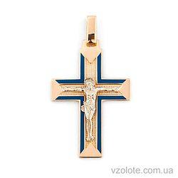Золотой крестик с эмалью (арт. 505009с)