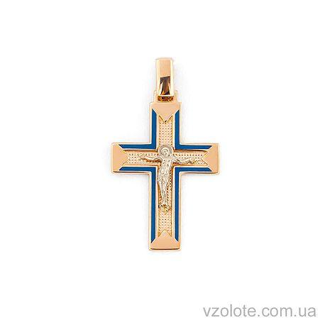 Золотой крестик с эмалью (арт. 505013с)