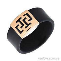 Каучуковое кольцо с золотой вставкой (арт. 900626)