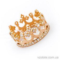 Золотое кольцо Корона с фианитами (цирконием) (арт. 11920)