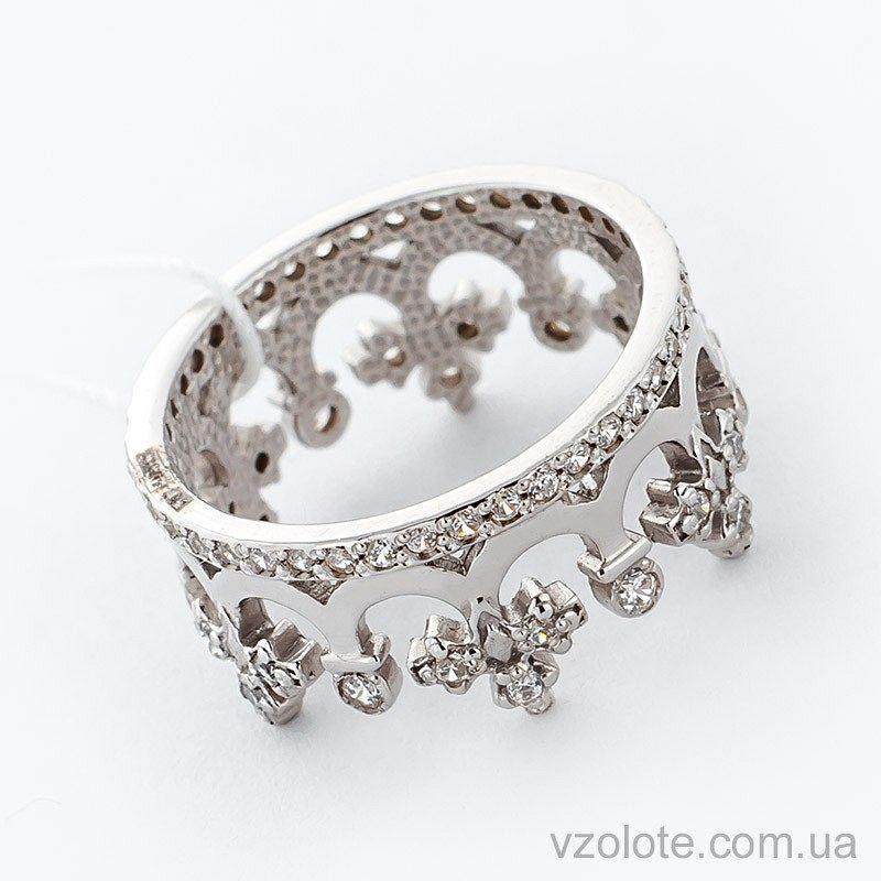 2deced481e93 Купить золотое кольцо Корона с фианитами (цирконием) (арт. 11920-б ...