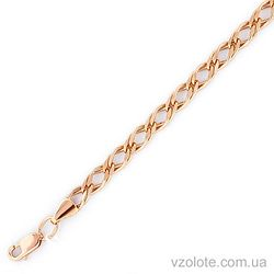 Золотой браслет Двойной ромб (арт. 313104л)