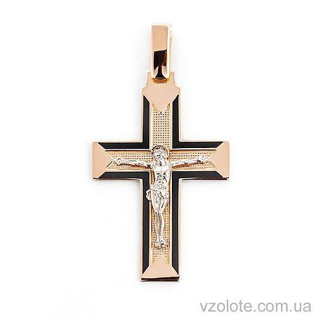 Золотой крестик с эмалью (арт. 505010ч)