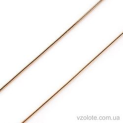 Золотая цепочка Снейк (арт. 304205)