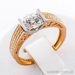 Золотое кольцо с фианитами (арт. 148000)