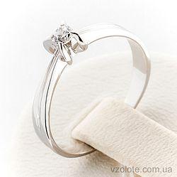 Золотое кольцо с фианитом (арт. 140485б)