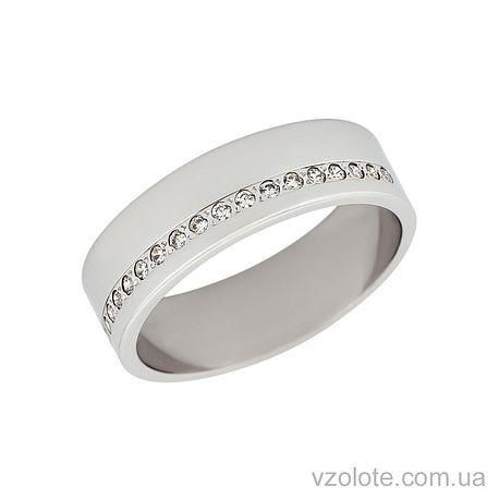Золотое обручальное кольцо с фианитами (арт. 1078б)