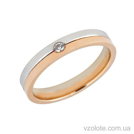 068fa36dec19 Золотое обручальное кольцо с бриллиантом (арт. 442677-1бр)