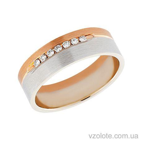 Золотое обручальное кольцо с бриллиантами (арт. 442963-бр)