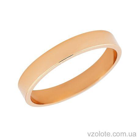 Золотое обручальное кольцо классическое Американка (арт. 10104-1)