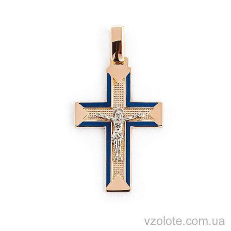 Золотой крестик с эмалью (арт. 505012с)