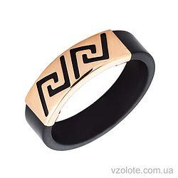 Каучуковое кольцо с золотой вставкой (арт. 900625)