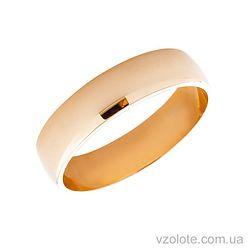 Золотое обручальное кольцо классическое 5 мм (арт. 1006)