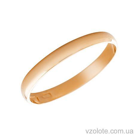 Золотое обручальное кольцо классическое (арт. 1001-1)