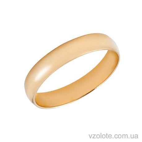 Золотое обручальное кольцо классическое 4 мм (арт. 1004)