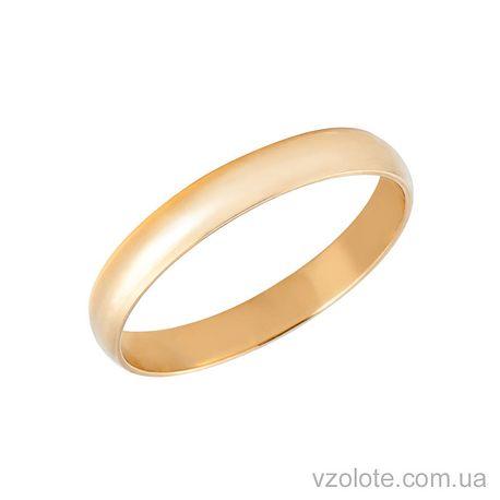Золотое обручальное кольцо классическое 3 мм (арт. 1003)