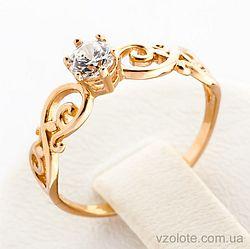 Золотое кольцо с фианитом (арт. 12236)