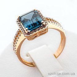 Золотое кольцо с топазом (арт. 140457Пл)