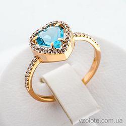 Золотое кольцо с кварцем (арт. 140634ПсГ)