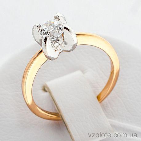 Золотое кольцо с фианитом (арт. 140648)